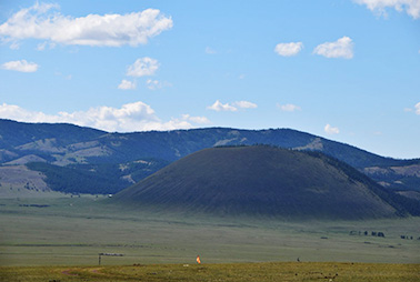 Extinct volcano of uran uul